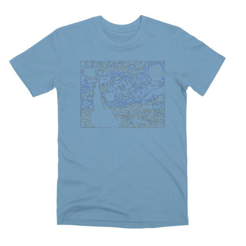 Starry Night - Digital Lines Men's Premium T-Shirt by Puttyhead's Artist Shop