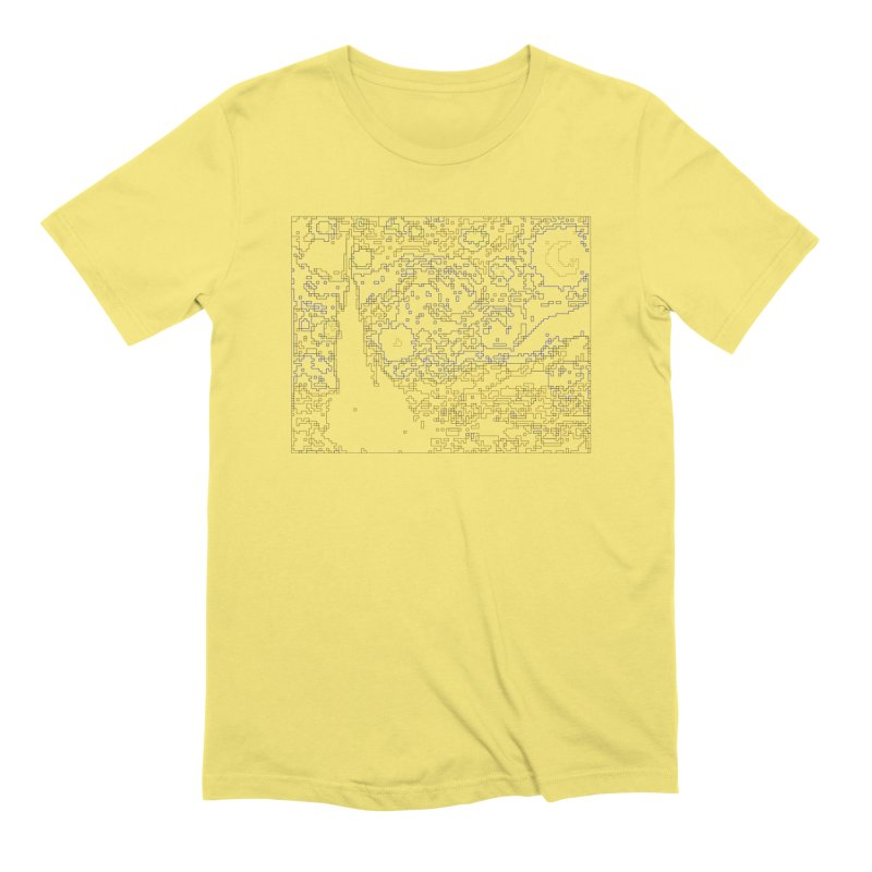 Starry Night - Digital Lines Men's Extra Soft T-Shirt by Puttyhead's Artist Shop