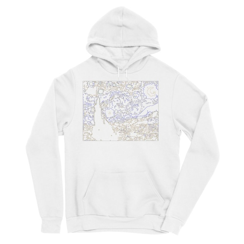 Starry Night - Digital Lines Men's Sponge Fleece Pullover Hoody by Puttyhead's Artist Shop