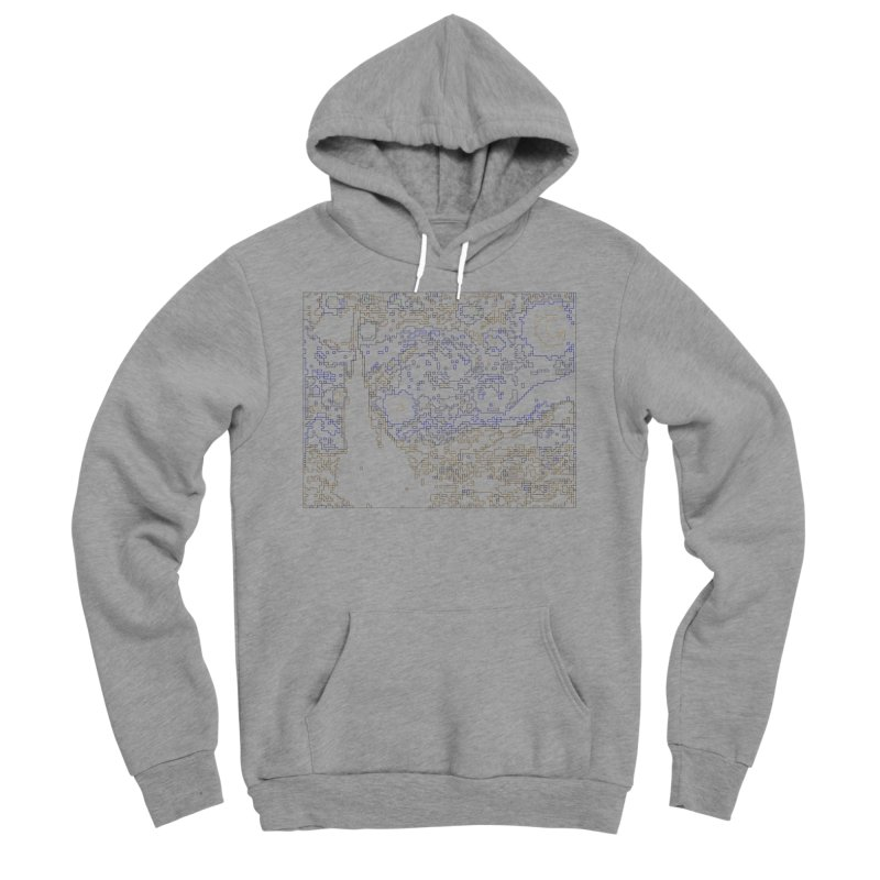Starry Night - Digital Lines Men's Sponge Fleece Pullover Hoody by Puttyhead's Artist Shop