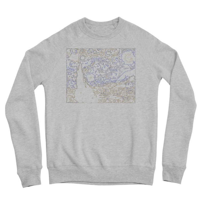 Starry Night - Digital Lines Women's Sponge Fleece Sweatshirt by Puttyhead's Artist Shop