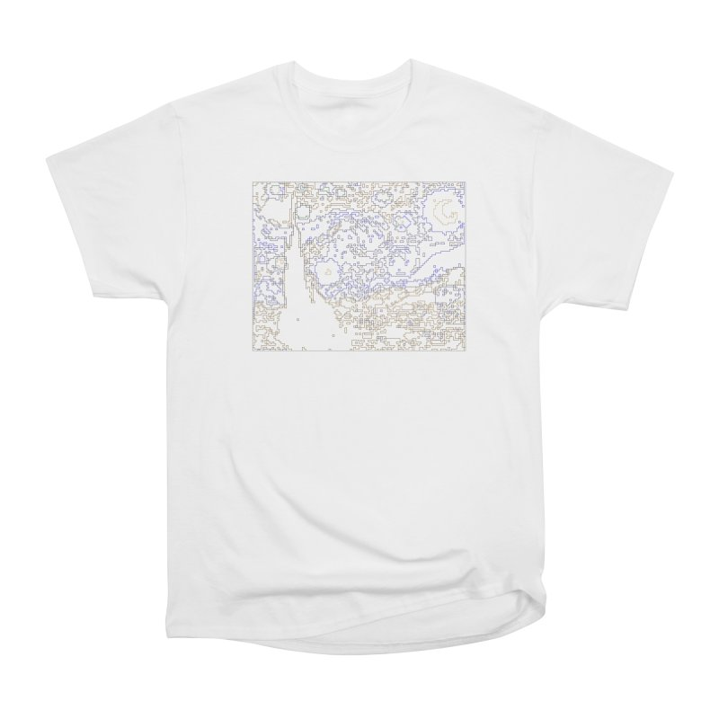 Starry Night - Digital Lines Women's T-Shirt by Puttyhead's Artist Shop