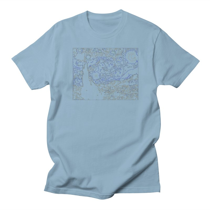 Starry Night - Digital Lines Women's Regular Unisex T-Shirt by Puttyhead's Artist Shop