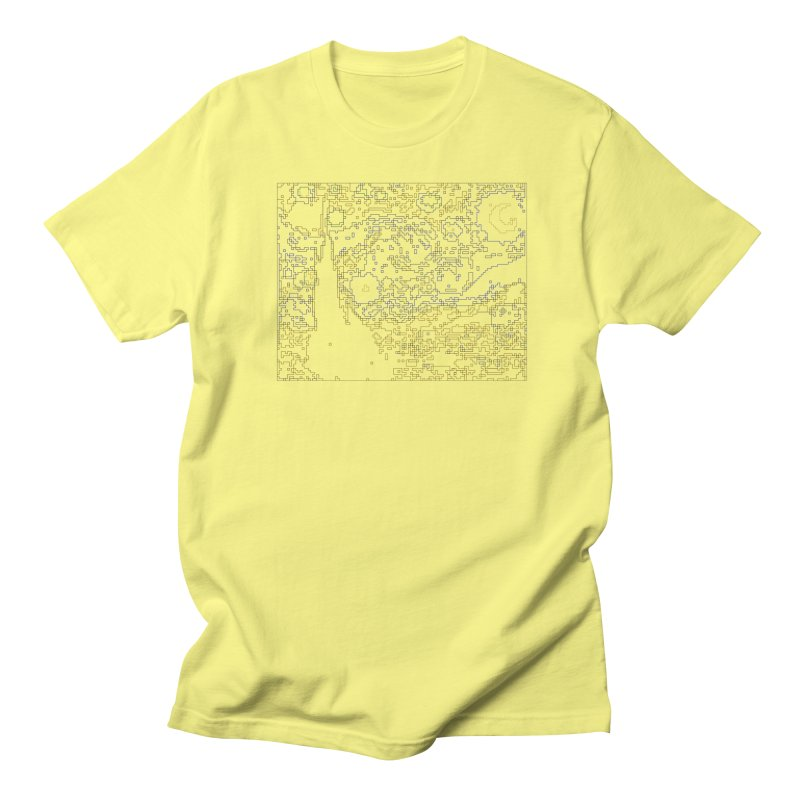Starry Night - Digital Lines Men's Regular T-Shirt by Puttyhead's Artist Shop