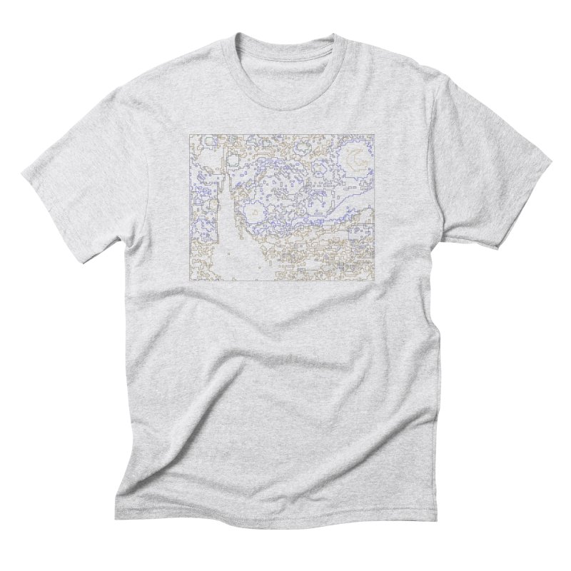 Starry Night - Digital Lines Men's Triblend T-Shirt by Puttyhead's Artist Shop