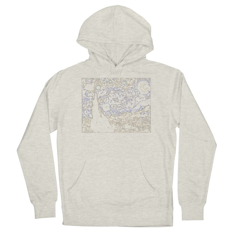 Starry Night - Digital Lines Men's French Terry Pullover Hoody by Puttyhead's Artist Shop