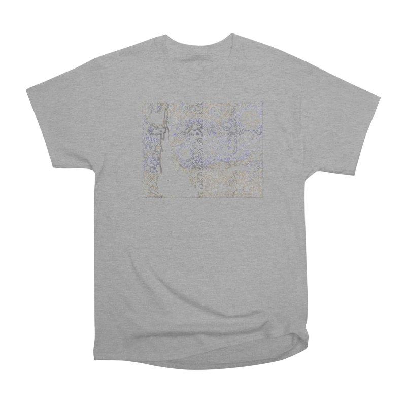 Starry Night - Digital Lines Women's Heavyweight Unisex T-Shirt by Puttyhead's Artist Shop