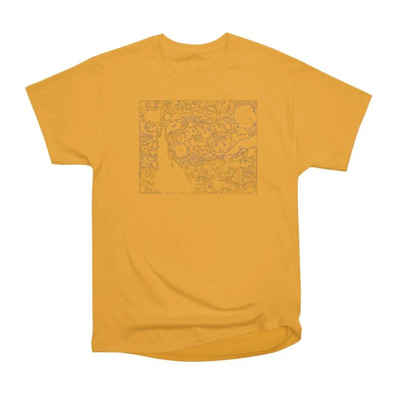 Starry Night - Digital Lines Men's Heavyweight T-Shirt by Puttyhead's Artist Shop