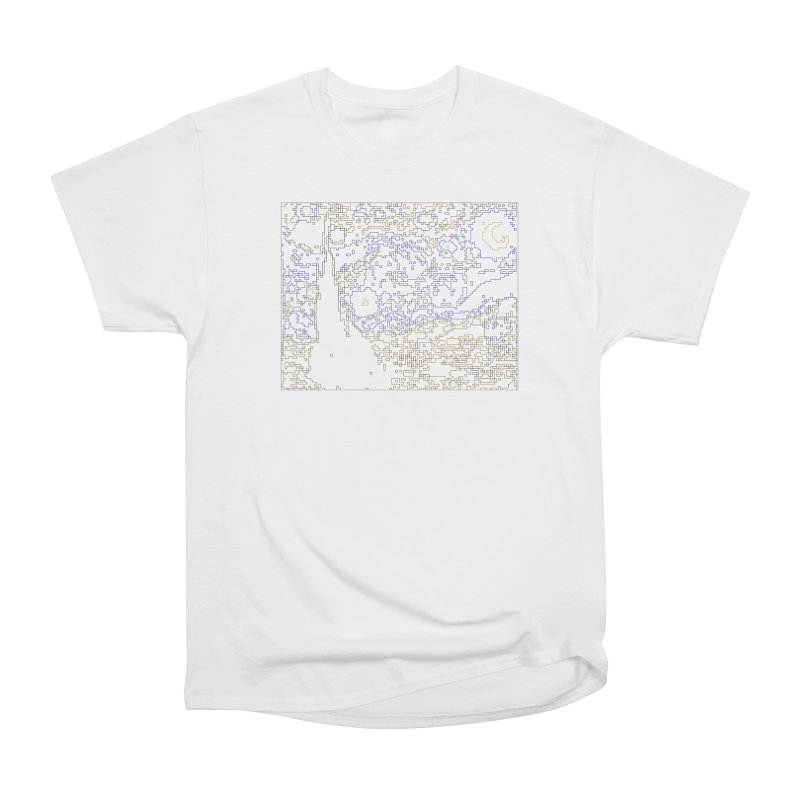 Starry Night - Digital Lines Women's Heavyweight Unisex T-Shirt by Puttyhead's Artist Shop