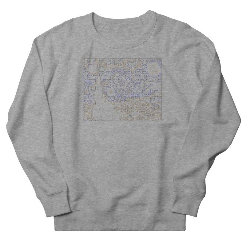Starry Night - Digital Lines Men's French Terry Sweatshirt by Puttyhead's Artist Shop