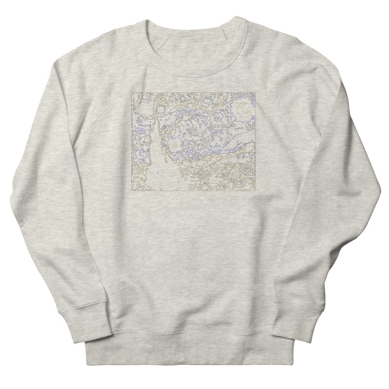 Starry Night - Digital Lines Men's French Terry Sweatshirt by Puttyhead's Artist Shop