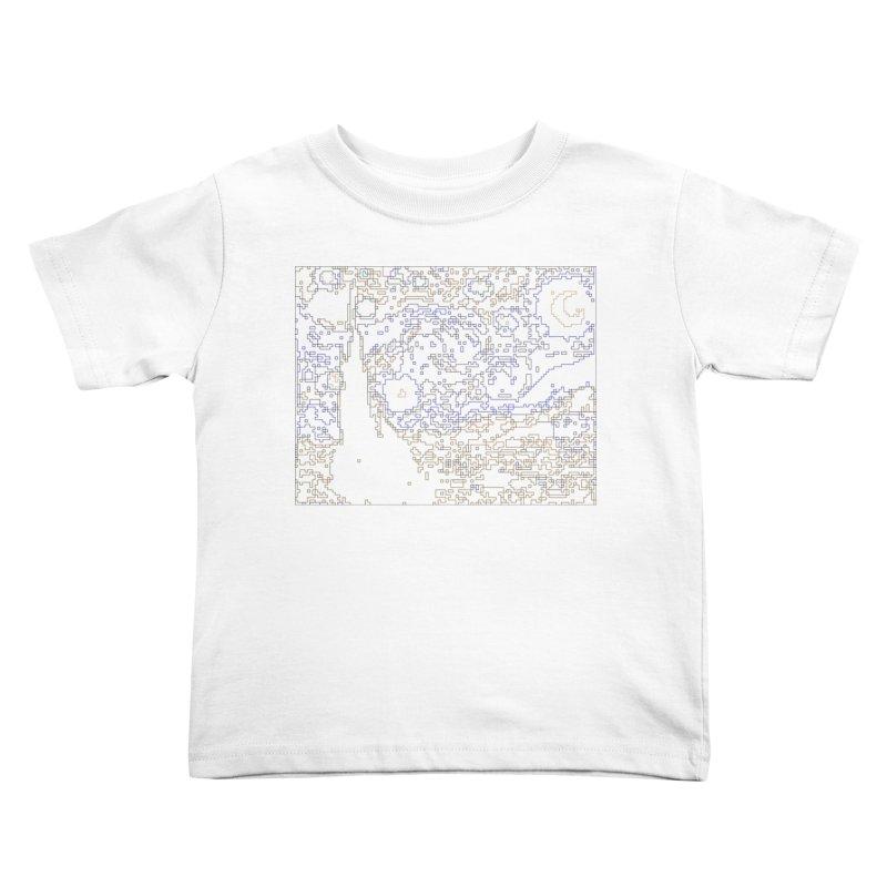 Starry Night - Digital Lines Kids Toddler T-Shirt by Puttyhead's Artist Shop