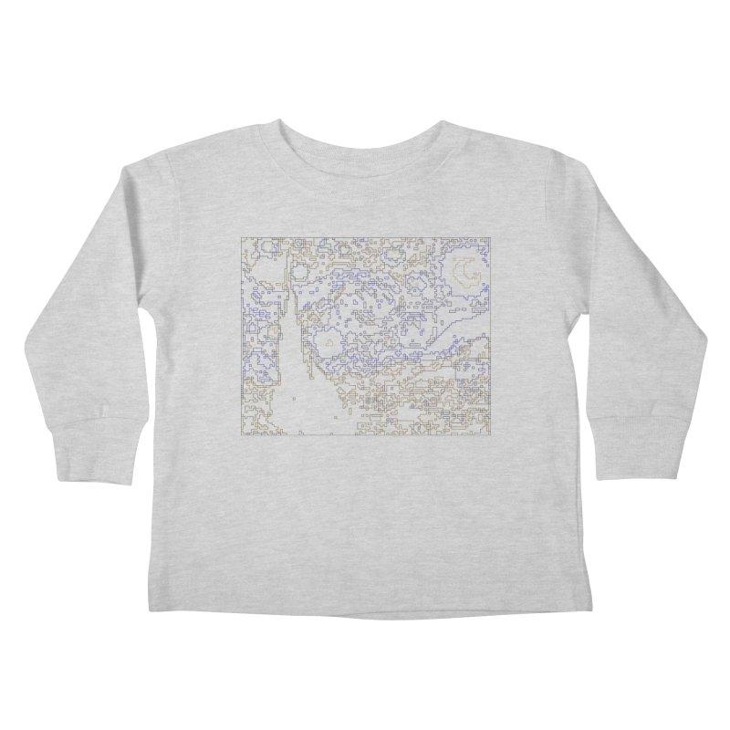 Starry Night - Digital Lines Kids Toddler Longsleeve T-Shirt by Puttyhead's Artist Shop