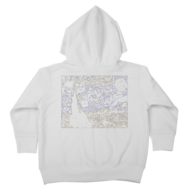 Starry Night - Digital Lines Kids Toddler Zip-Up Hoody by Puttyhead's Artist Shop