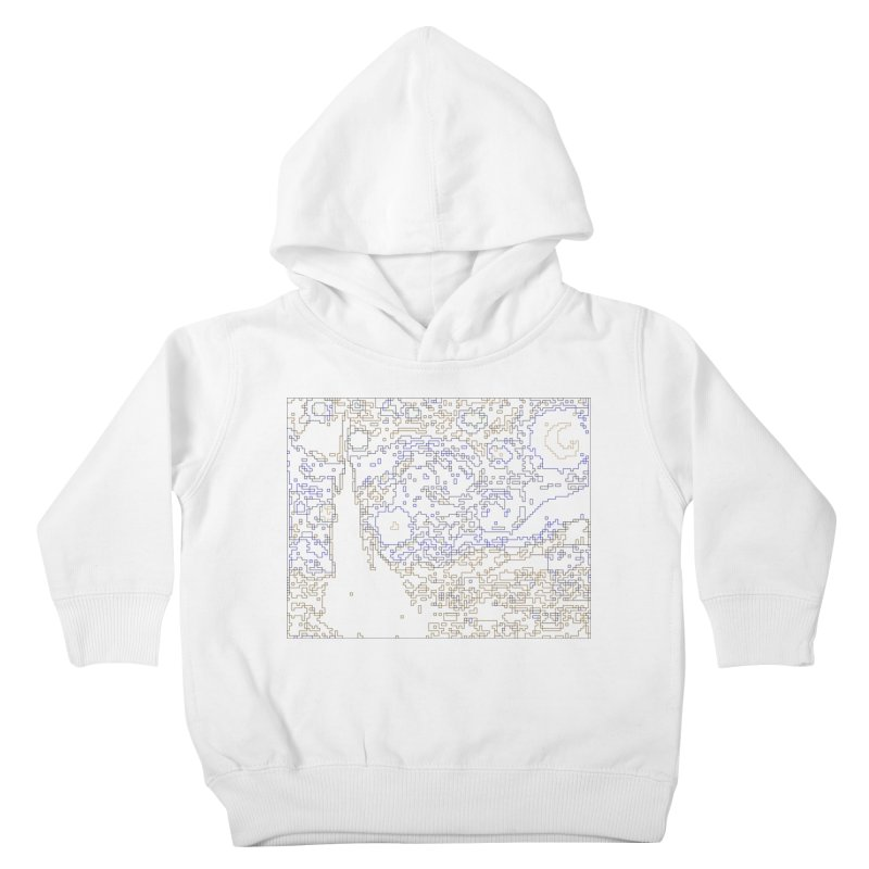 Starry Night - Digital Lines Kids Toddler Pullover Hoody by Puttyhead's Artist Shop