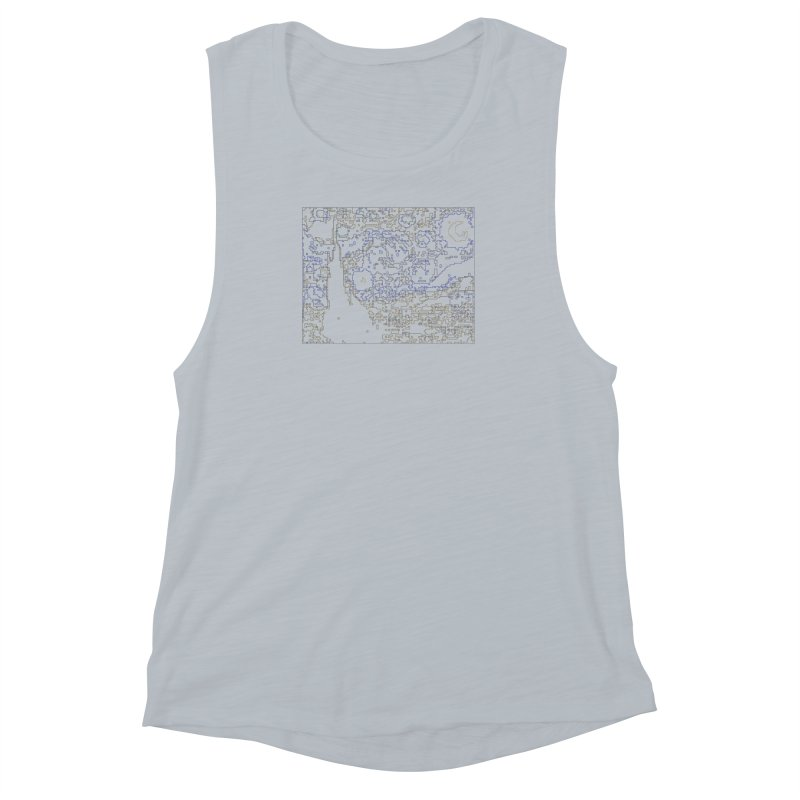 Starry Night - Digital Lines Women's Muscle Tank by Puttyhead's Artist Shop