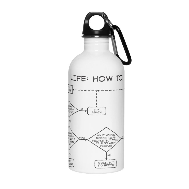 How To Life Accessories Water Bottle by Puttyhead's Artist Shop