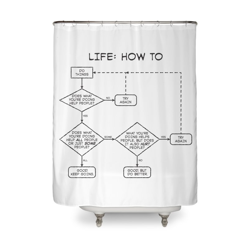 How To Life Home Shower Curtain by Puttyhead's Artist Shop
