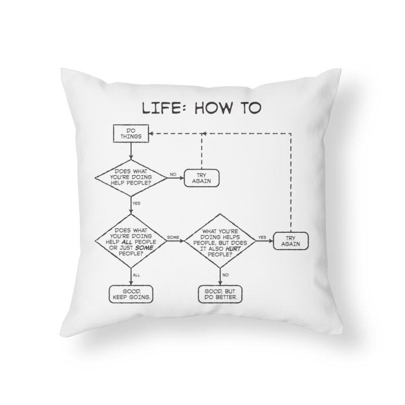 How To Life Home Throw Pillow by Puttyhead's Artist Shop