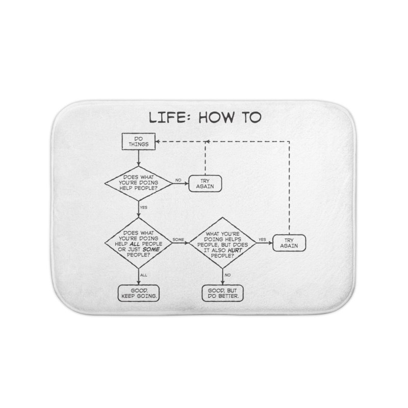 How To Life Home Bath Mat by Puttyhead's Artist Shop