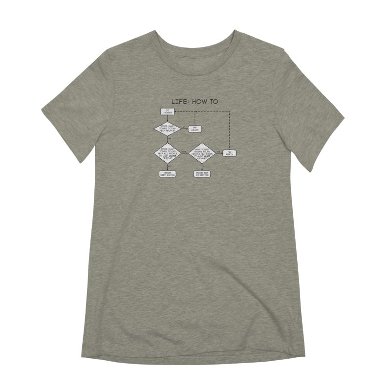 How To Life Women's Extra Soft T-Shirt by Puttyhead's Artist Shop