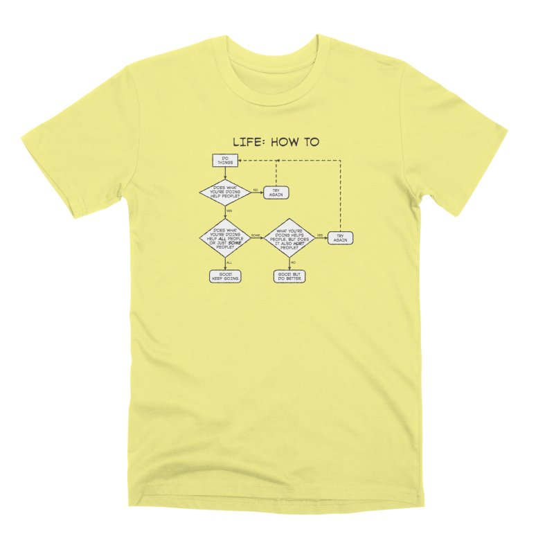 How To Life Men's Premium T-Shirt by Puttyhead's Artist Shop