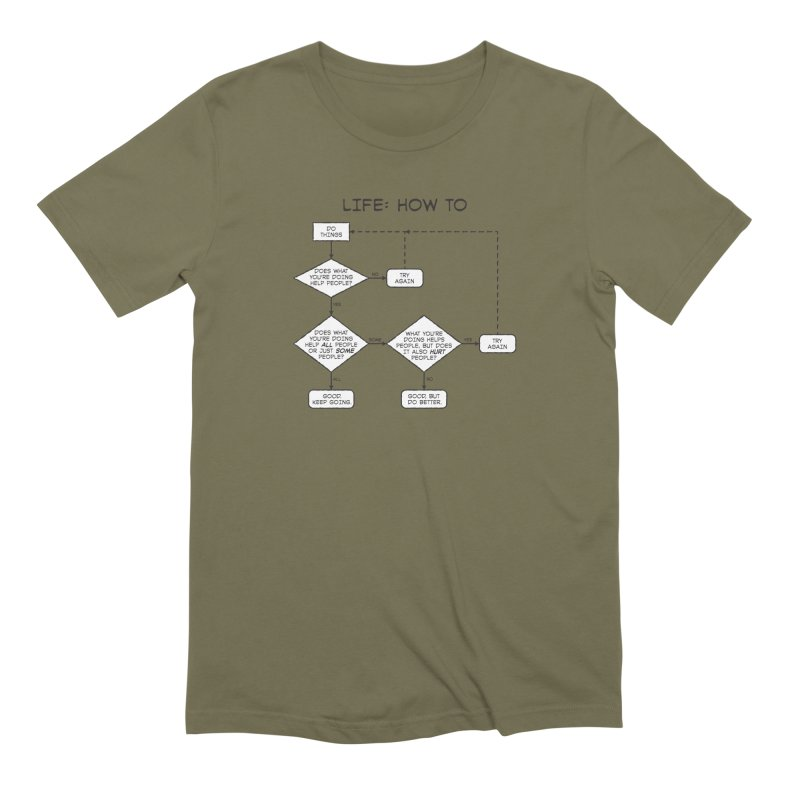 How To Life Men's Extra Soft T-Shirt by Puttyhead's Artist Shop
