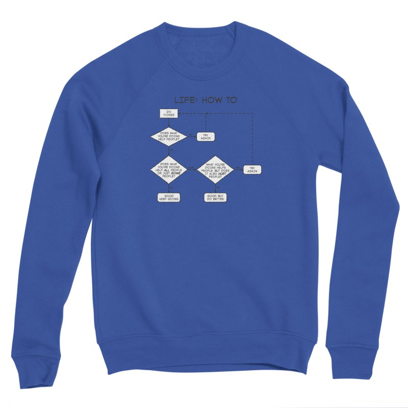 How To Life Women's Sponge Fleece Sweatshirt by Puttyhead's Artist Shop