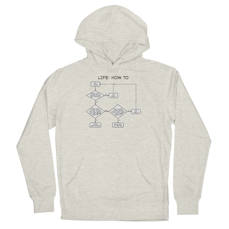 How To Life Women's French Terry Pullover Hoody by Puttyhead's Artist Shop