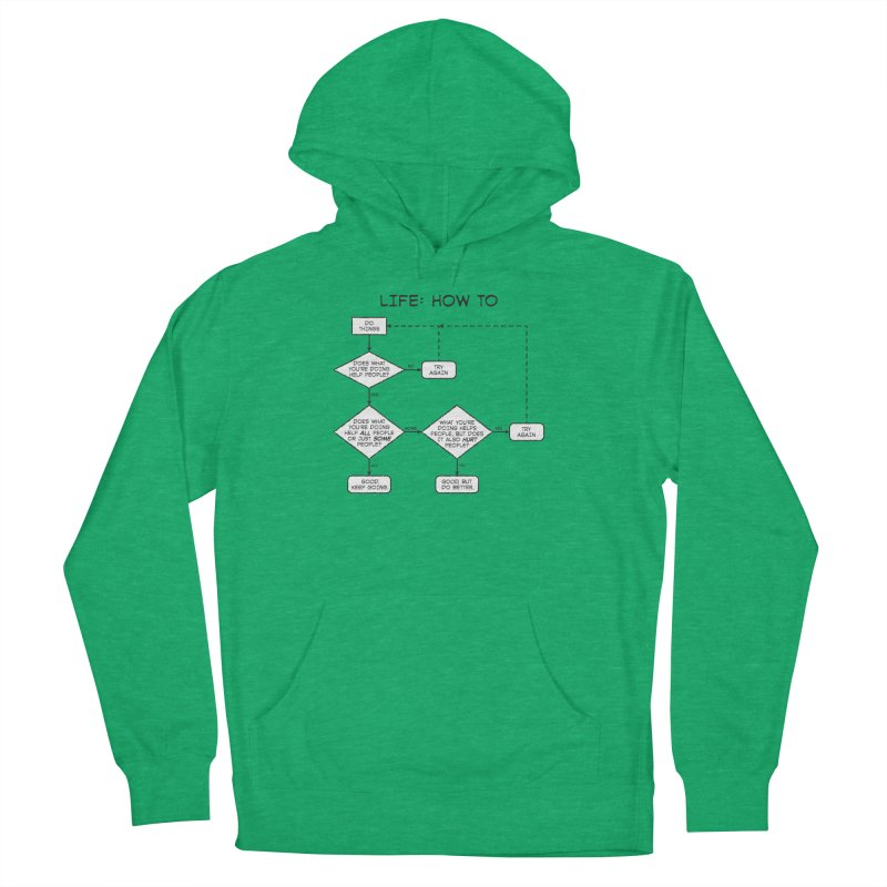 How To Life Men's French Terry Pullover Hoody by Puttyhead's Artist Shop