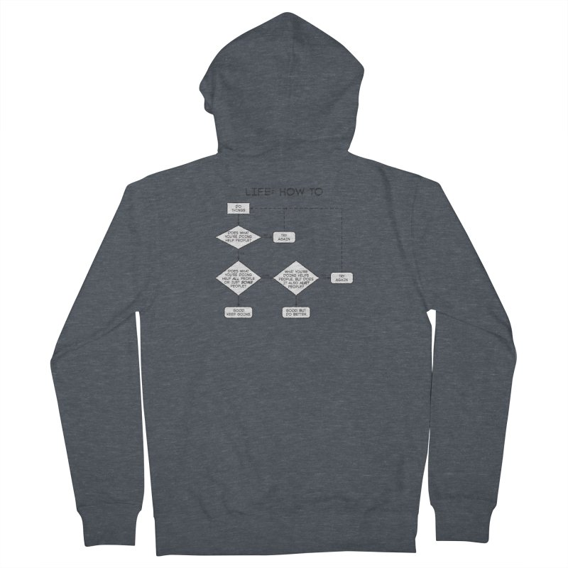 How To Life Men's French Terry Zip-Up Hoody by Puttyhead's Artist Shop