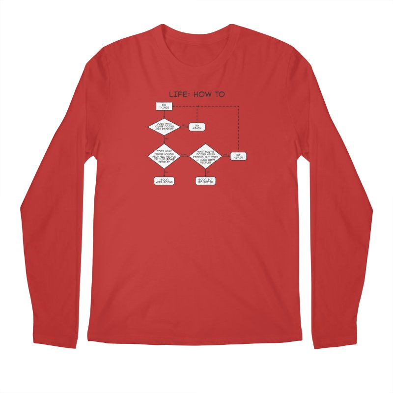 How To Life Men's Regular Longsleeve T-Shirt by Puttyhead's Artist Shop