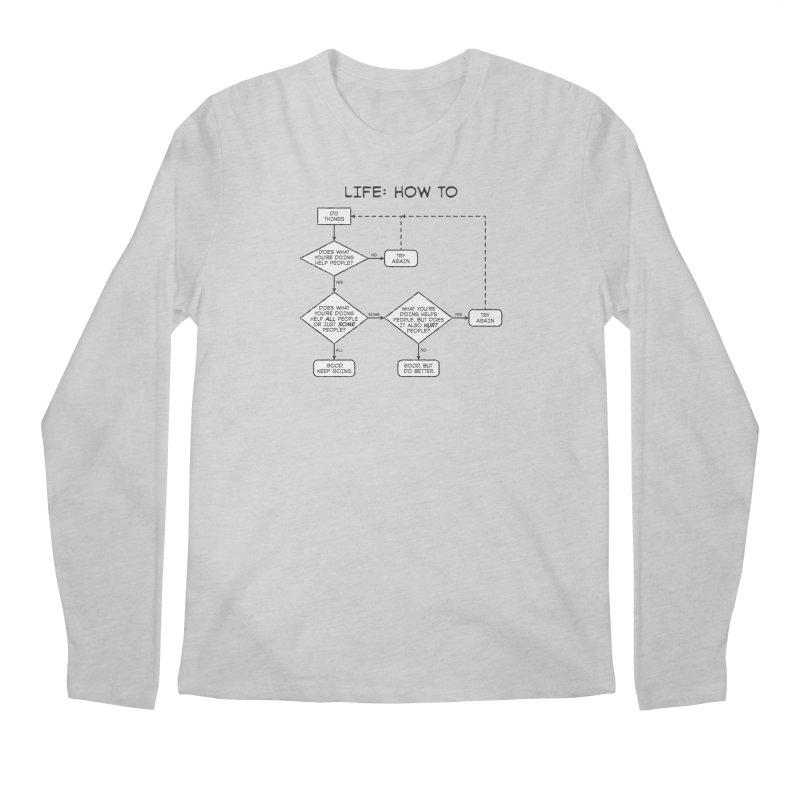 How To Life Men's Regular Longsleeve T-Shirt by Puttyhead's Artist Shop
