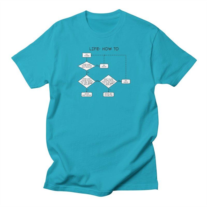 How To Life Women's Regular Unisex T-Shirt by Puttyhead's Artist Shop
