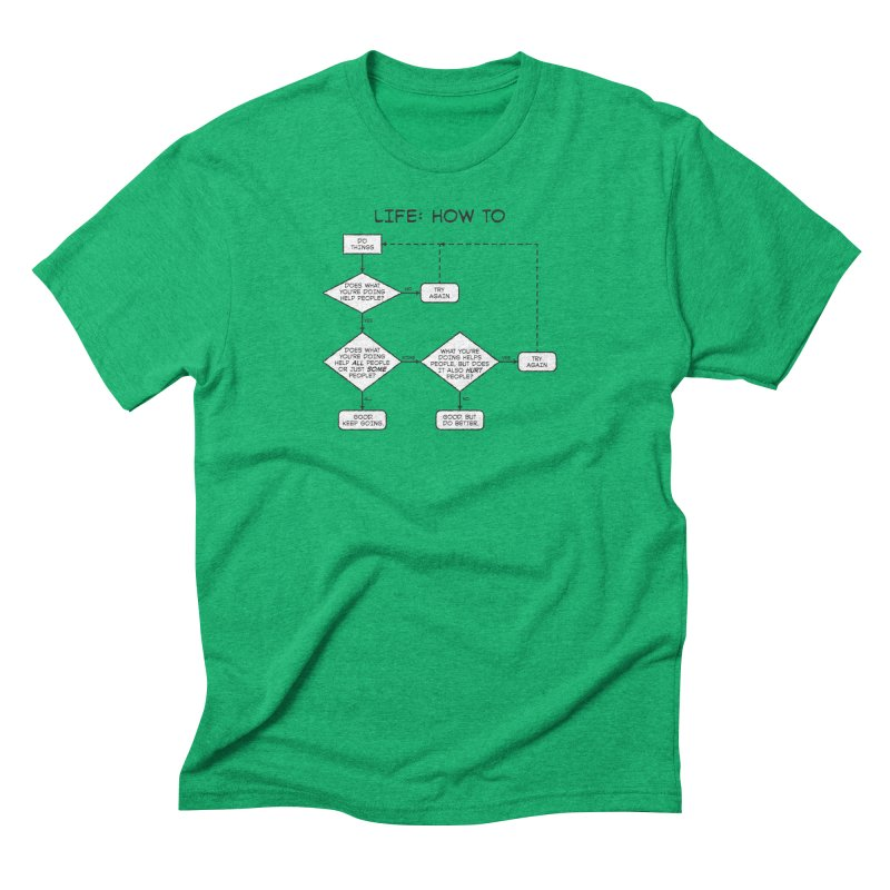 How To Life Men's Triblend T-Shirt by Puttyhead's Artist Shop