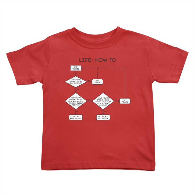 How To Life Kids Toddler T-Shirt by Puttyhead's Artist Shop
