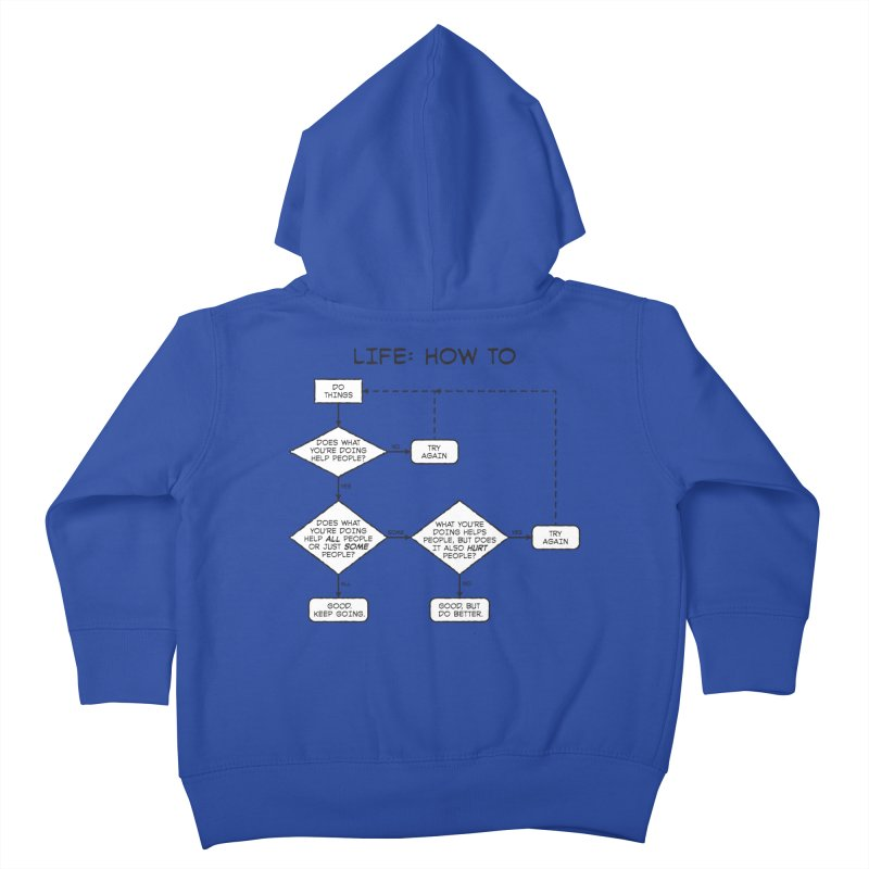 How To Life Kids Toddler Zip-Up Hoody by Puttyhead's Artist Shop