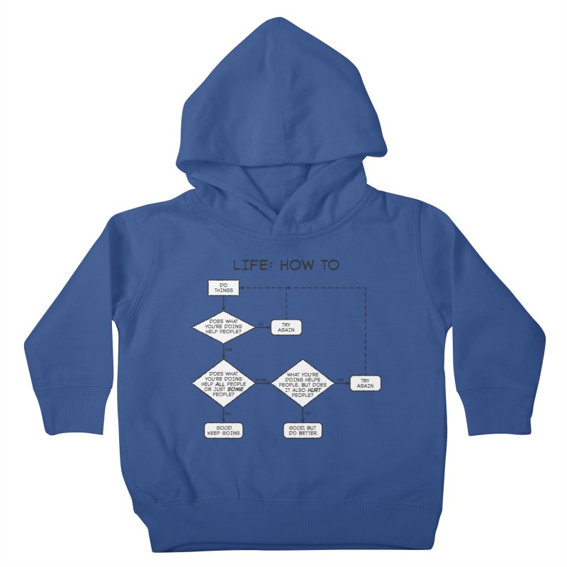 How To Life Kids Toddler Pullover Hoody by Puttyhead's Artist Shop