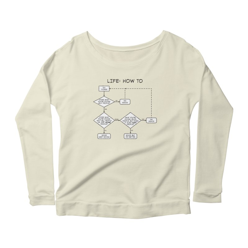 How To Life Women's Scoop Neck Longsleeve T-Shirt by Puttyhead's Artist Shop