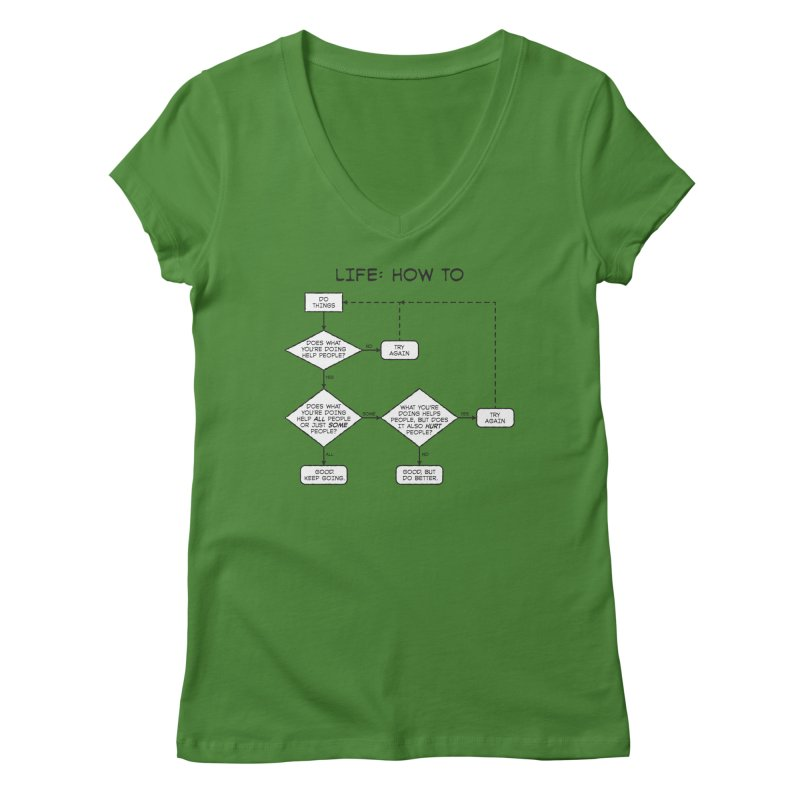 How To Life Women's Regular V-Neck by Puttyhead's Artist Shop