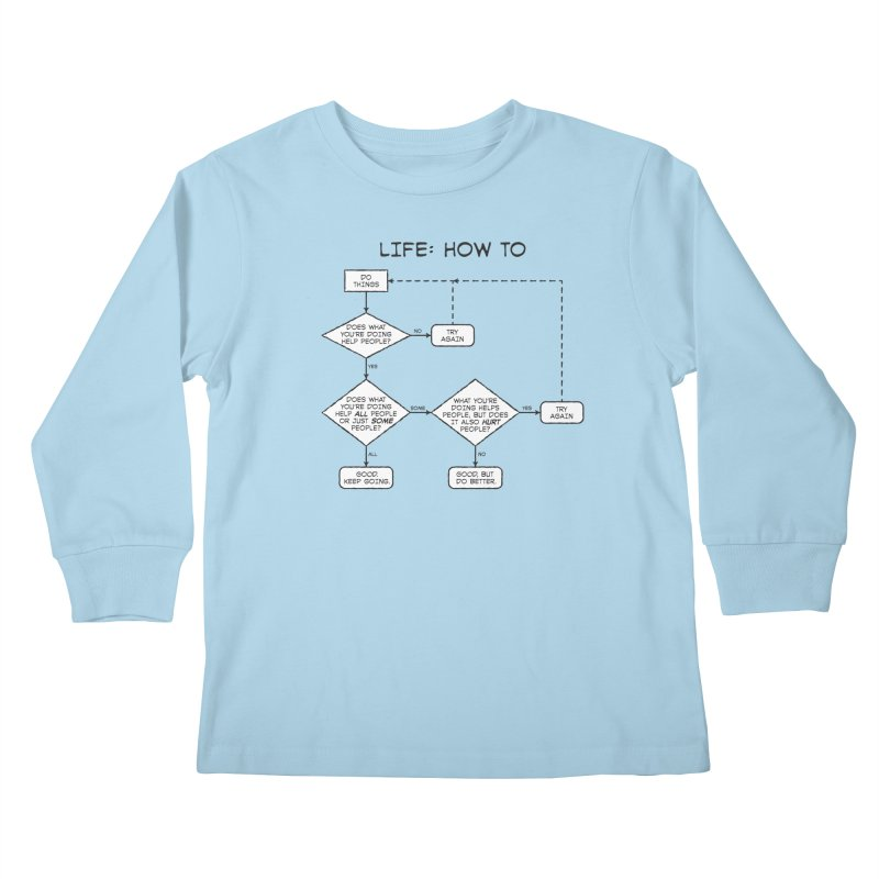 How To Life Kids Longsleeve T-Shirt by Puttyhead's Artist Shop