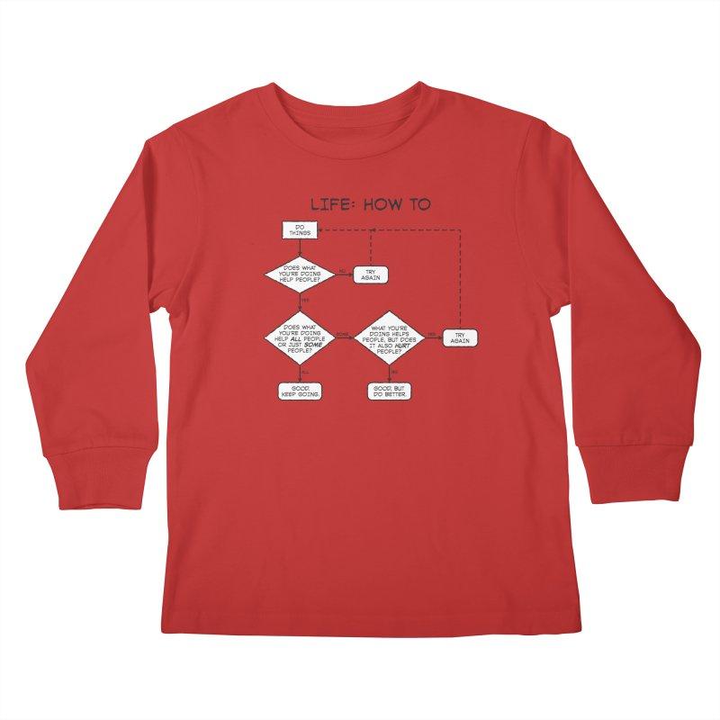 How To Life Kids Longsleeve T-Shirt by Puttyhead's Artist Shop