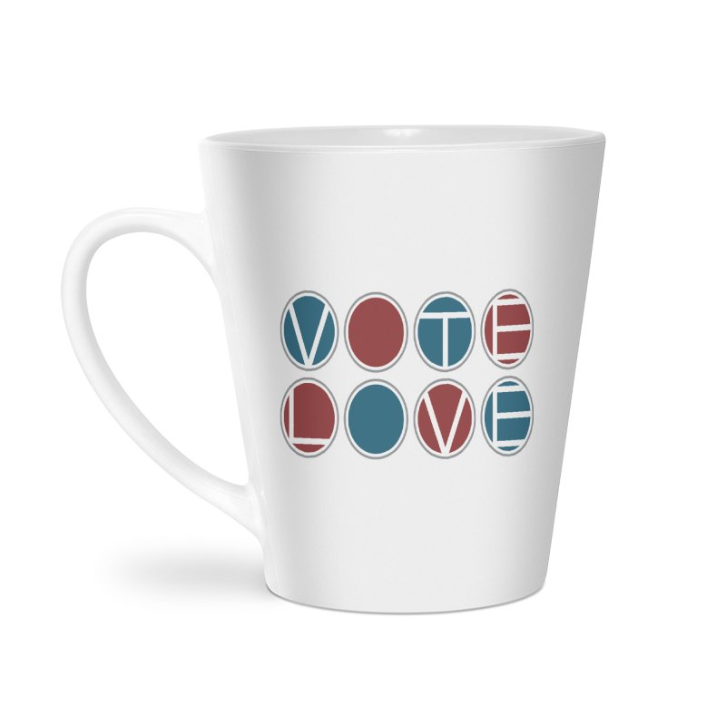 Vote Love Accessories Latte Mug by Puttyhead's Artist Shop