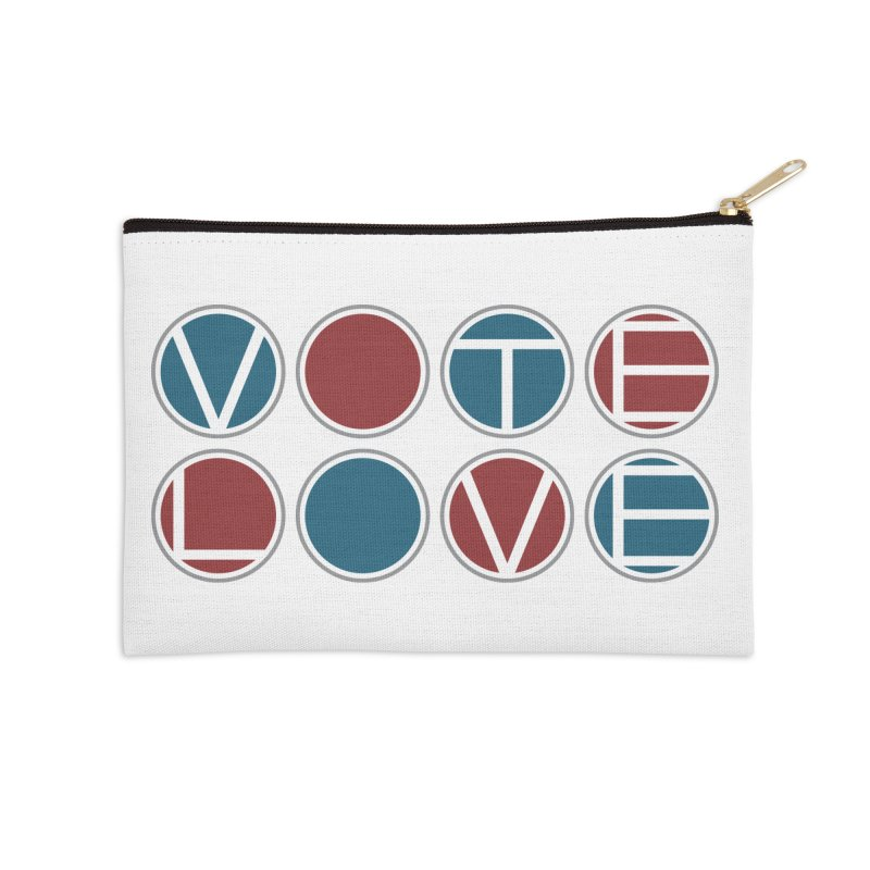 Vote Love Accessories Zip Pouch by Puttyhead's Artist Shop