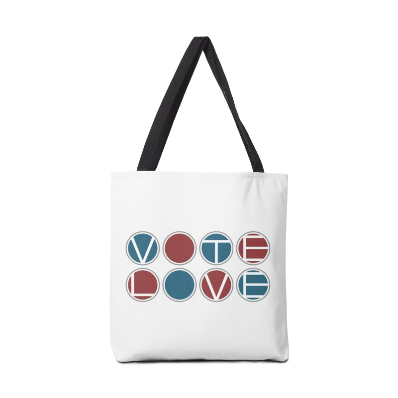 Vote Love Accessories Tote Bag Bag by Puttyhead's Artist Shop
