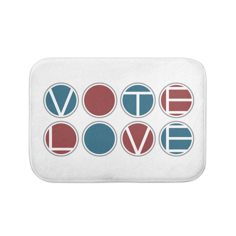 Vote Love Home Bath Mat by Puttyhead's Artist Shop