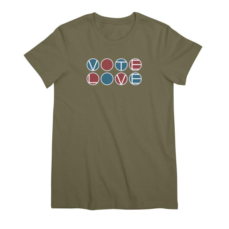 Vote Love Women's Premium T-Shirt by Puttyhead's Artist Shop