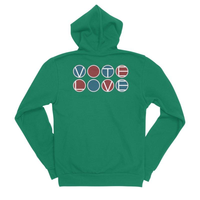 Vote Love Women's Sponge Fleece Zip-Up Hoody by Puttyhead's Artist Shop
