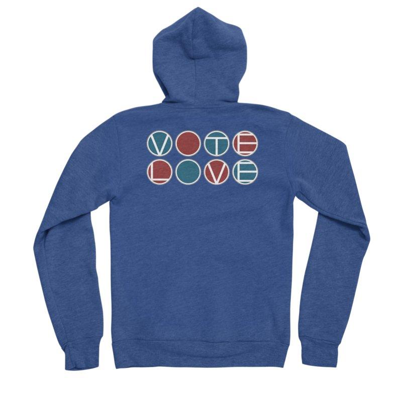 Vote Love Men's Sponge Fleece Zip-Up Hoody by Puttyhead's Artist Shop