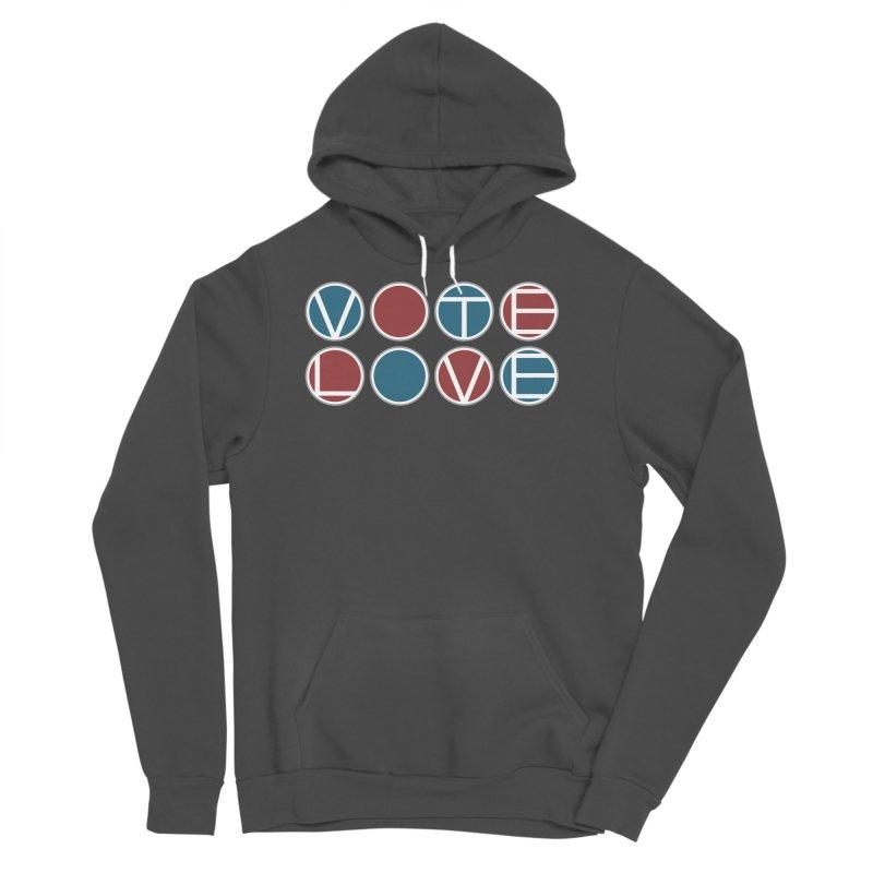 Vote Love Men's Sponge Fleece Pullover Hoody by Puttyhead's Artist Shop